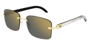 cartier sunglasses ct-0030rs-001 buffalo horn