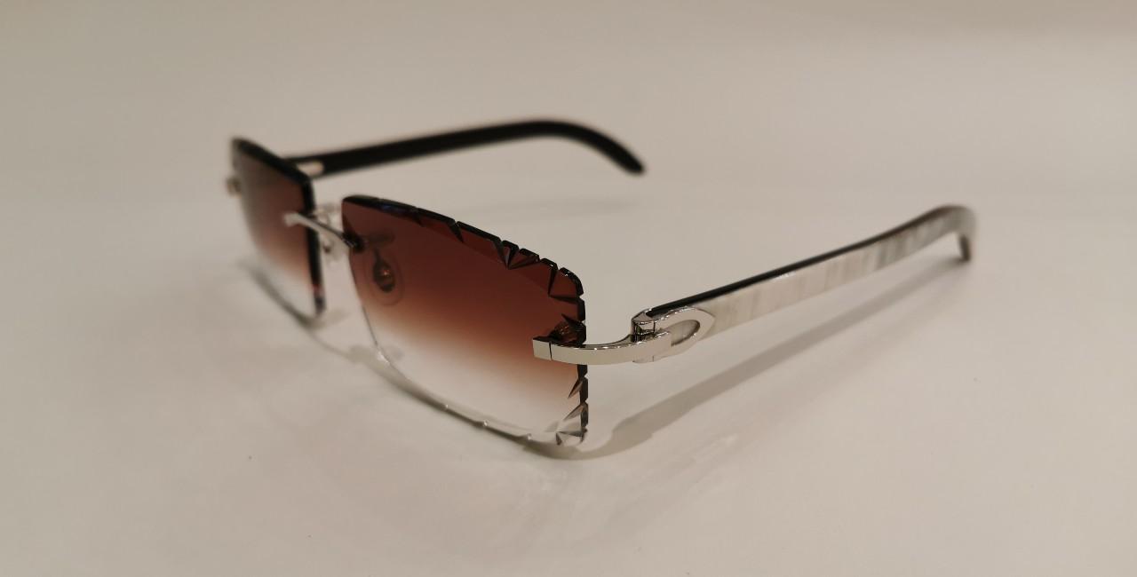 Cartier CT0046O Diamond Cut Brown-1