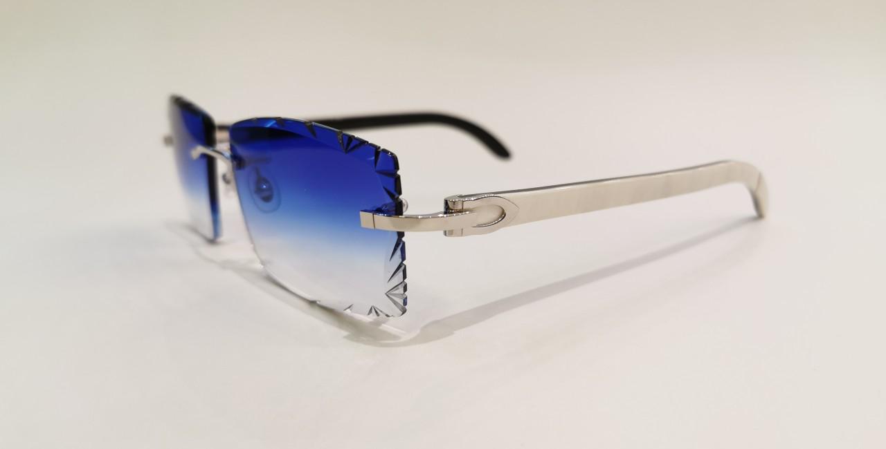 Cartier CT0046O White Buffalo Diamond Vivi Blue